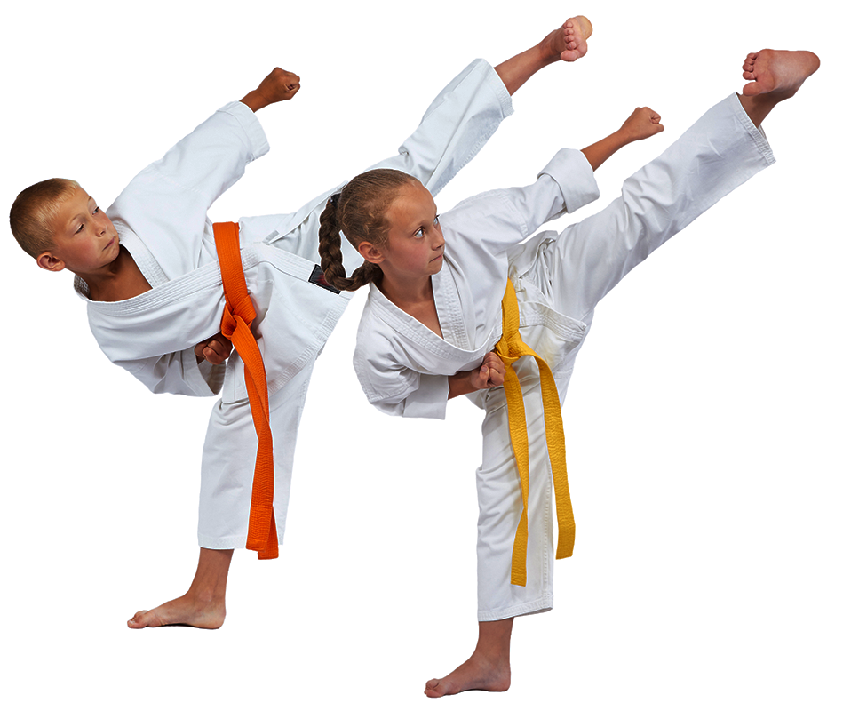 Thriving Martial Arts Academy two kids kick